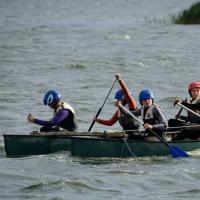 Rafted Canoes for team building  at Welton waters Adventure Centre